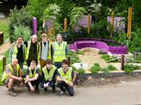 The team with the garden