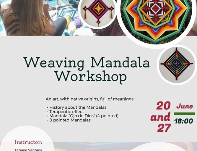 Die Wissenbörse ist kreativ: Weaving Mandalas