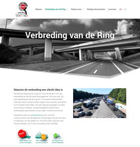 Voorpagina website verbredingvandering.be