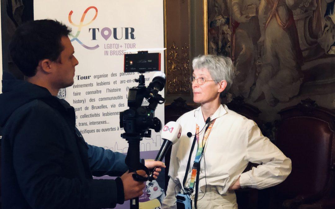 Marian Lens geeft een interview over de L-tour en de website L-tour.be