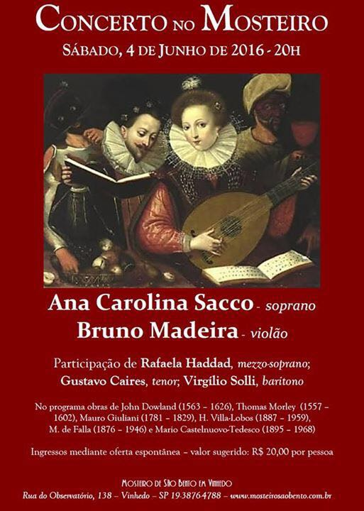 vinhedo Concerto no Mosteiro (Vinhedo/SP, 04/06/16)