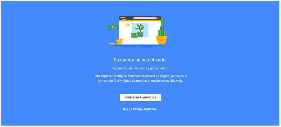 AdSense aprueba una cuenta nueva en 18 horas