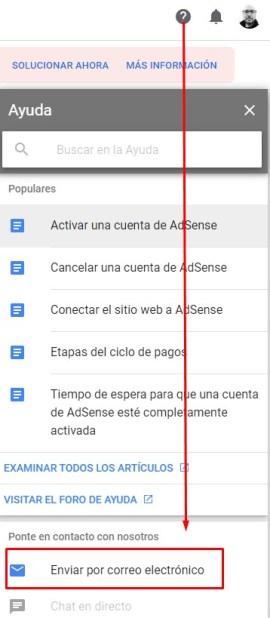 Formulario de contacto de Adsense
