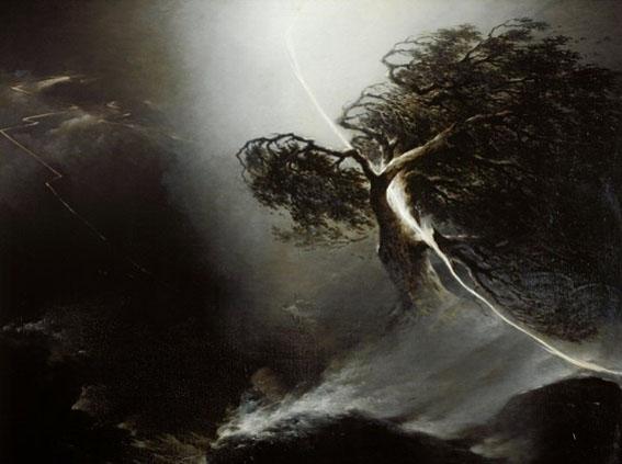 "Nikifororvitch Vorobiev Maxim, ""La Tempête- le chêne foudroyé"" (1842)"