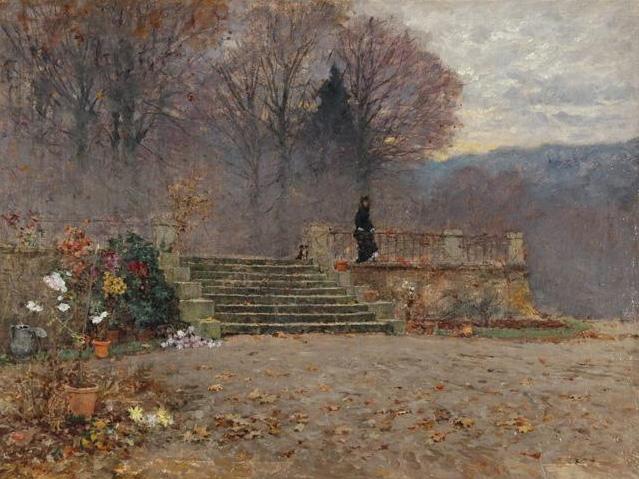 Charnay Soirée d'aautomne sur la terrasse
