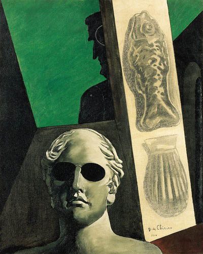 Chirico portrait d'Apollinaire