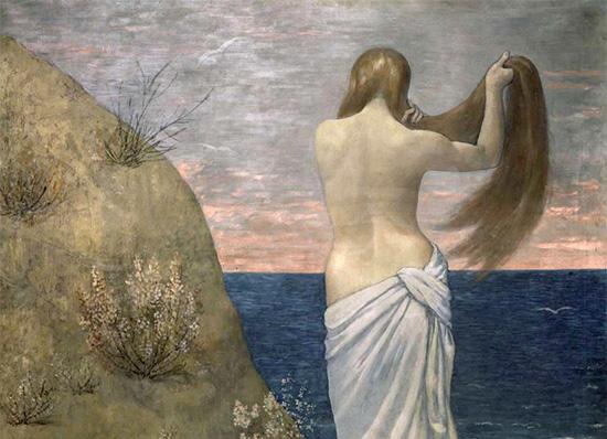 Pierre Puvis de Chavannes_Jeunes_filles_au_bord_de_la_mer_1879_détail