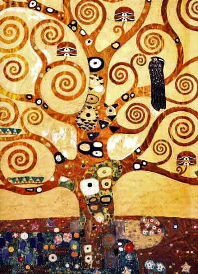 Klimt_Arbre de vie_détail