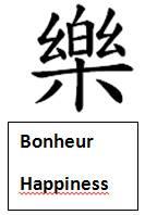 bonheur hapiness sinogramme