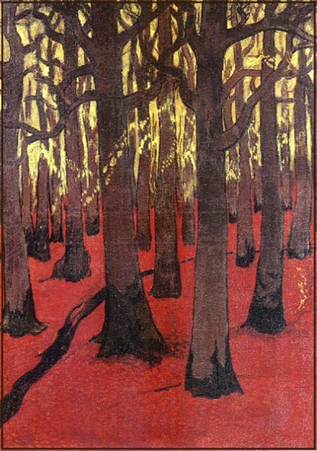 georges_lacombe_foret_au_sol_rouge_1