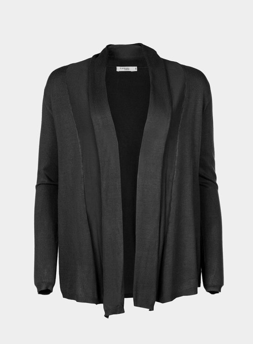 chaqueta de punto negra