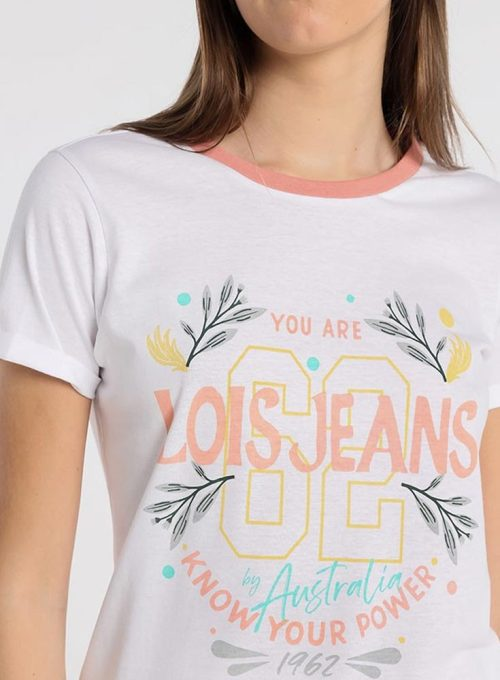 CAMISETA-BLANCA-LOIS-JEANS-MUJER-421282602-1