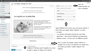 Construction d'1 newsletter avec Wysija