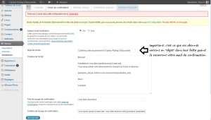 Paramétrer l'email de confirmation dans Wysija Newsletter