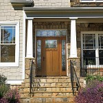 wood exterior door with glass surround madison wi
