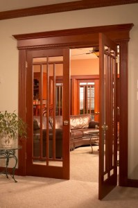 custom wood interior doors stained with glass madison wi