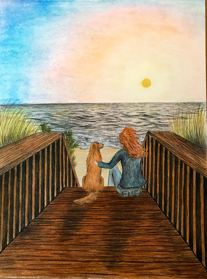 The Daydreamer - Best Imaginative Work Winner of the Beachy Draw-A-Thon