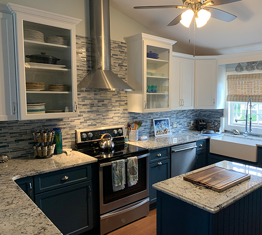 Two-Toned Cabinet Kitchen Remodel by Designer Chris Gibson