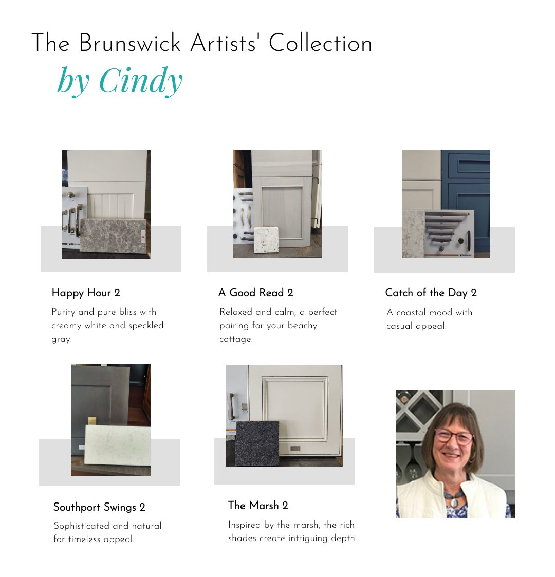 The Brunswick Artists Collection by Brunswick Cabinets and Countertops' Cindy Bennett-McCune