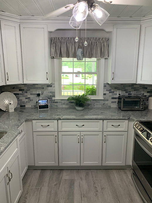 Neutral Kitchen Remodel by Brunswick Cabinets and Countertops