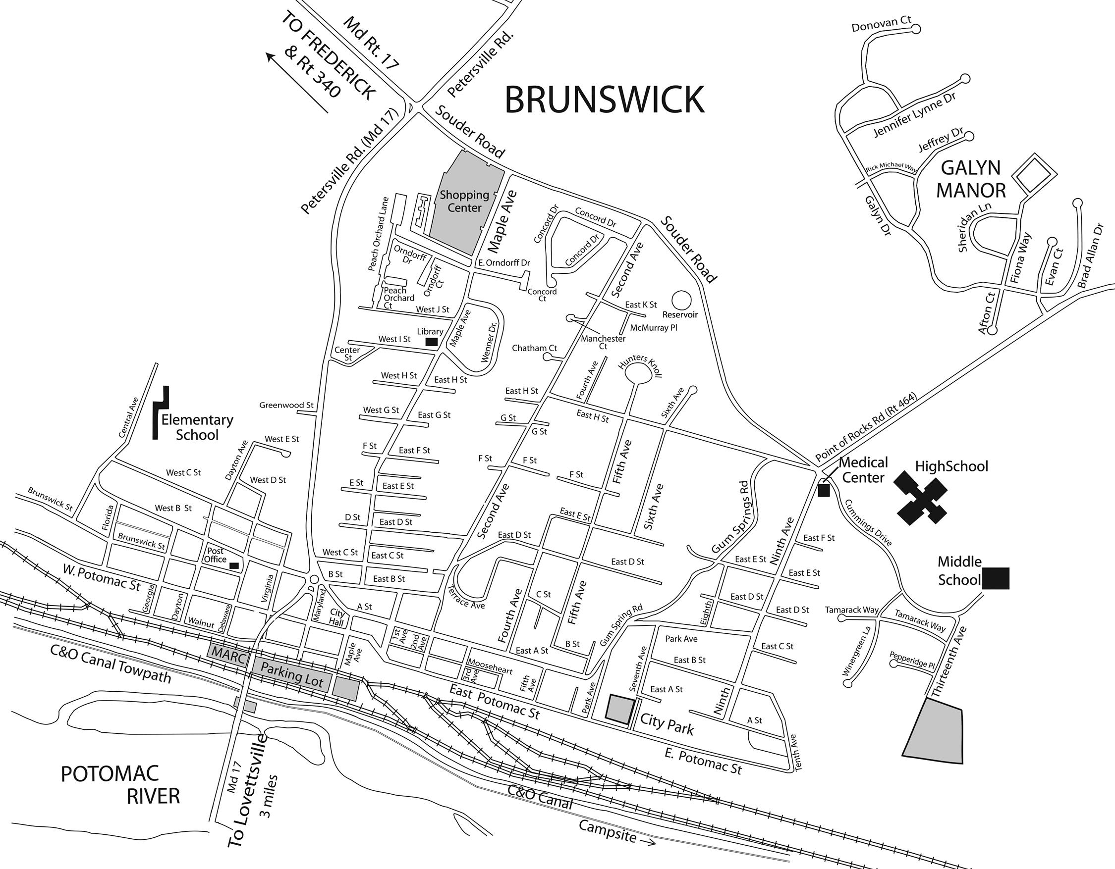 Map Of Brunswick