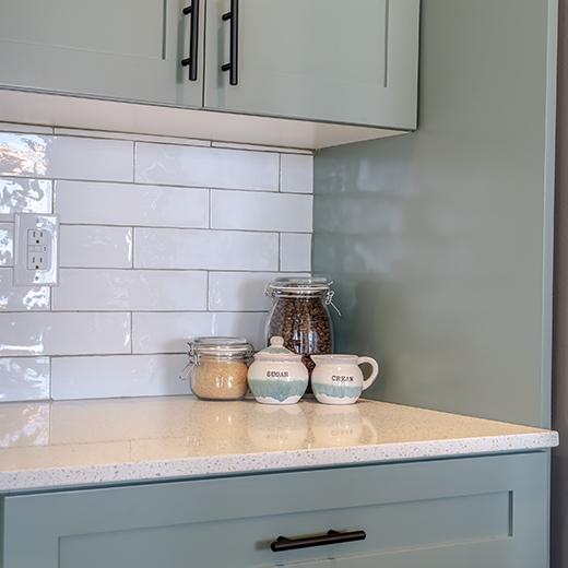 Ceramic Tile Backsplash Installation