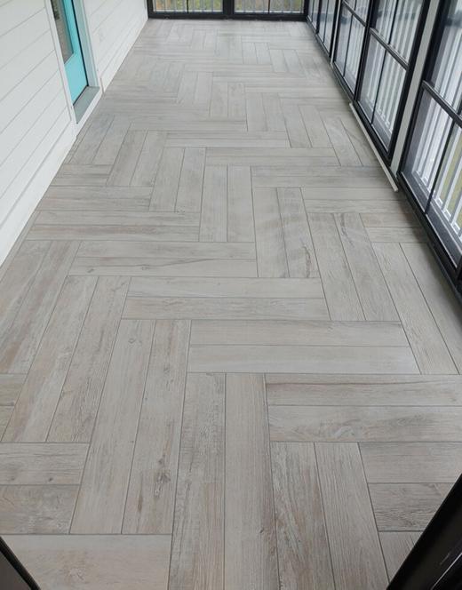 Herringbone Pattern Tile Flooring
