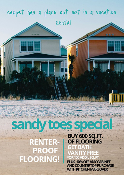 Brunswick Tile and Flooring Supply NC Sandy Toes Special