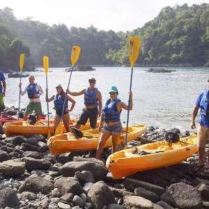 ocean kayaking snorkeling tour family