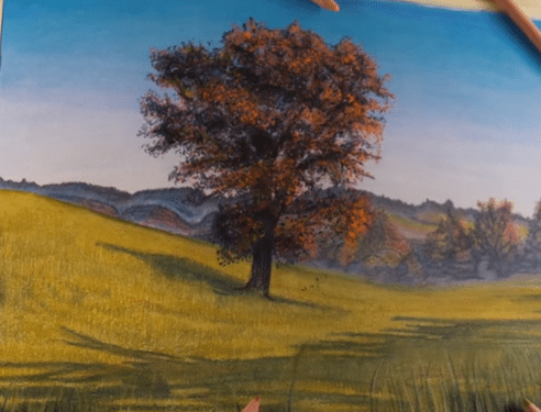 Beautiful Fall Landscape Colored Pencil Drawing Time Lapse Brush And Pencil