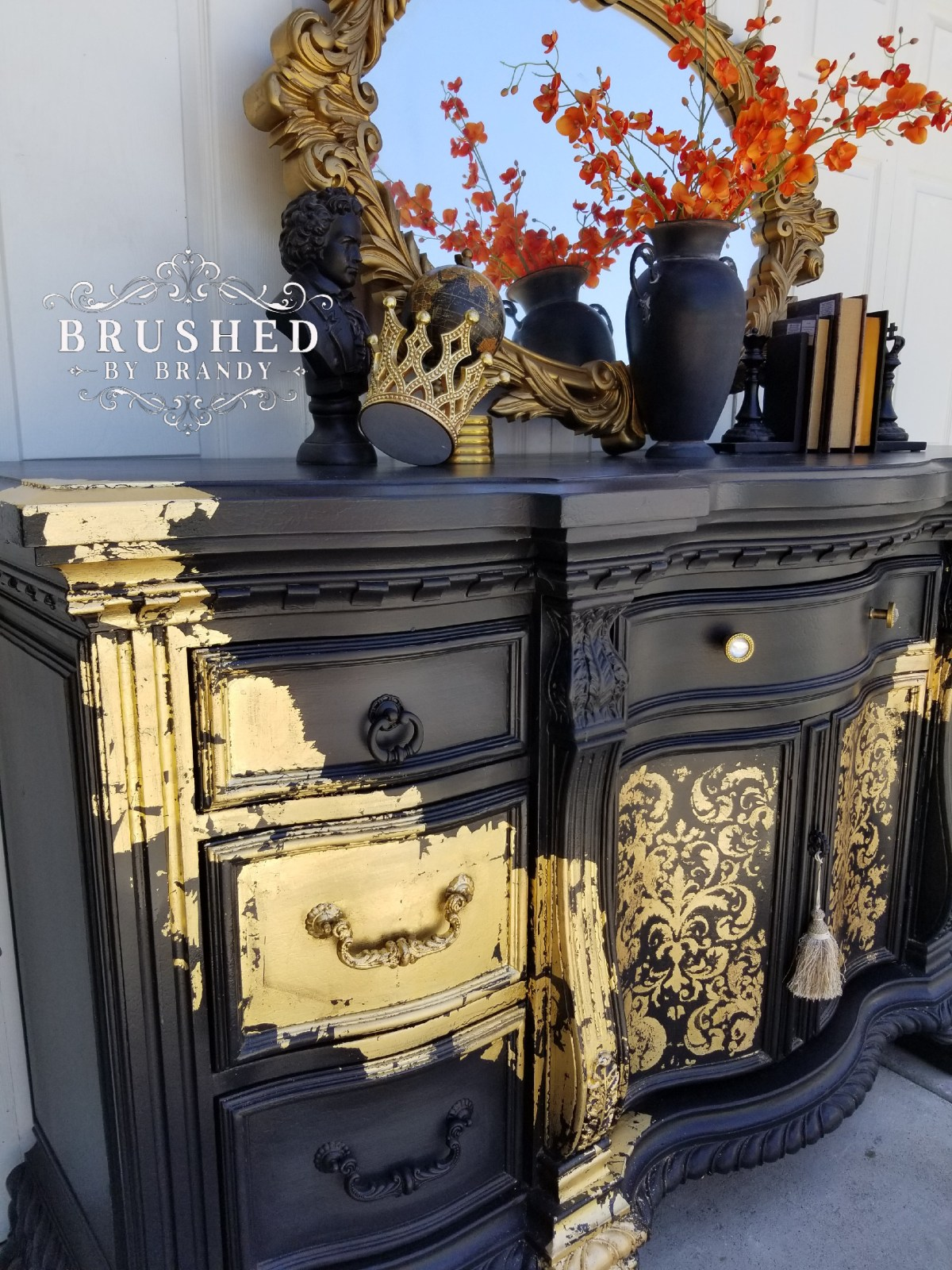 How to do Gold Leaf on Furniture