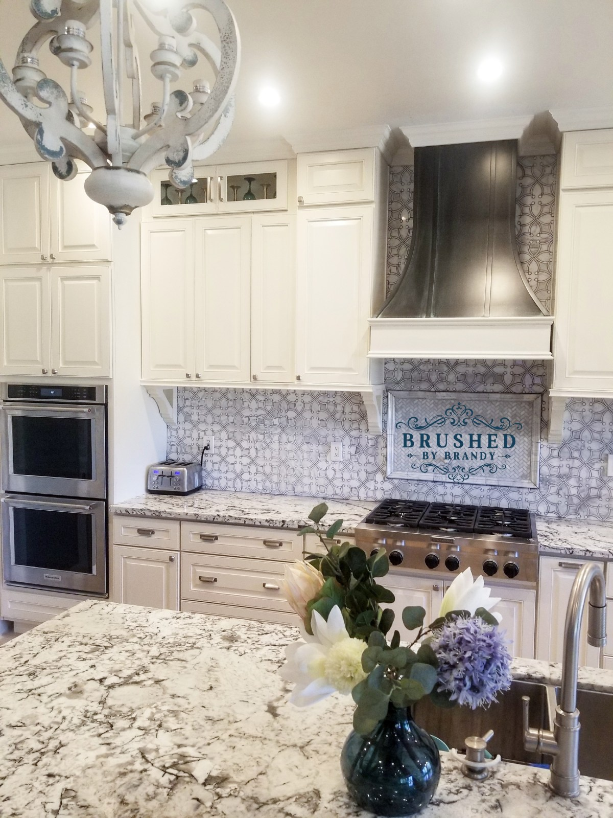 Full Kitchen Remodel with DIY Painted Range Hood
