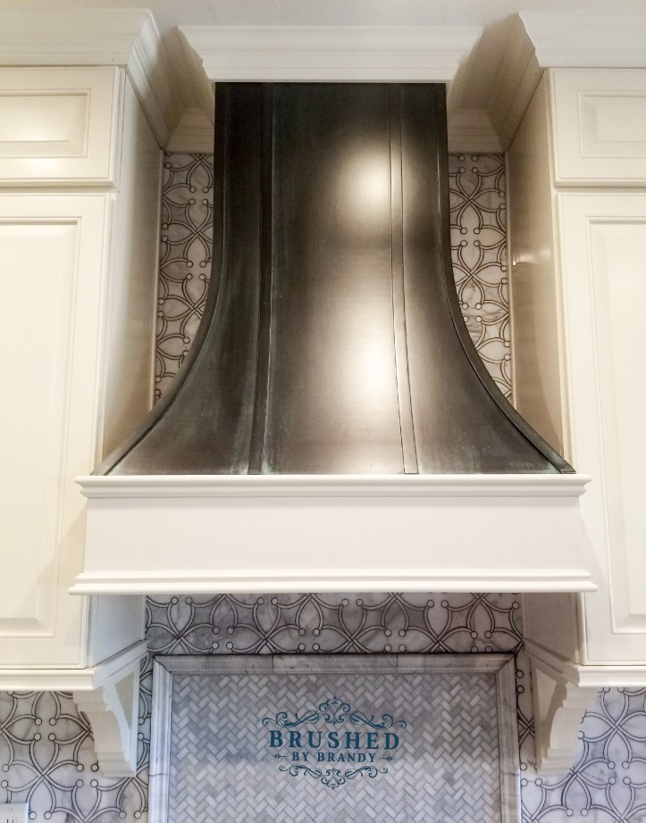 Finished Hood Full Kitchen Remodel with DIY Painted Range Hood