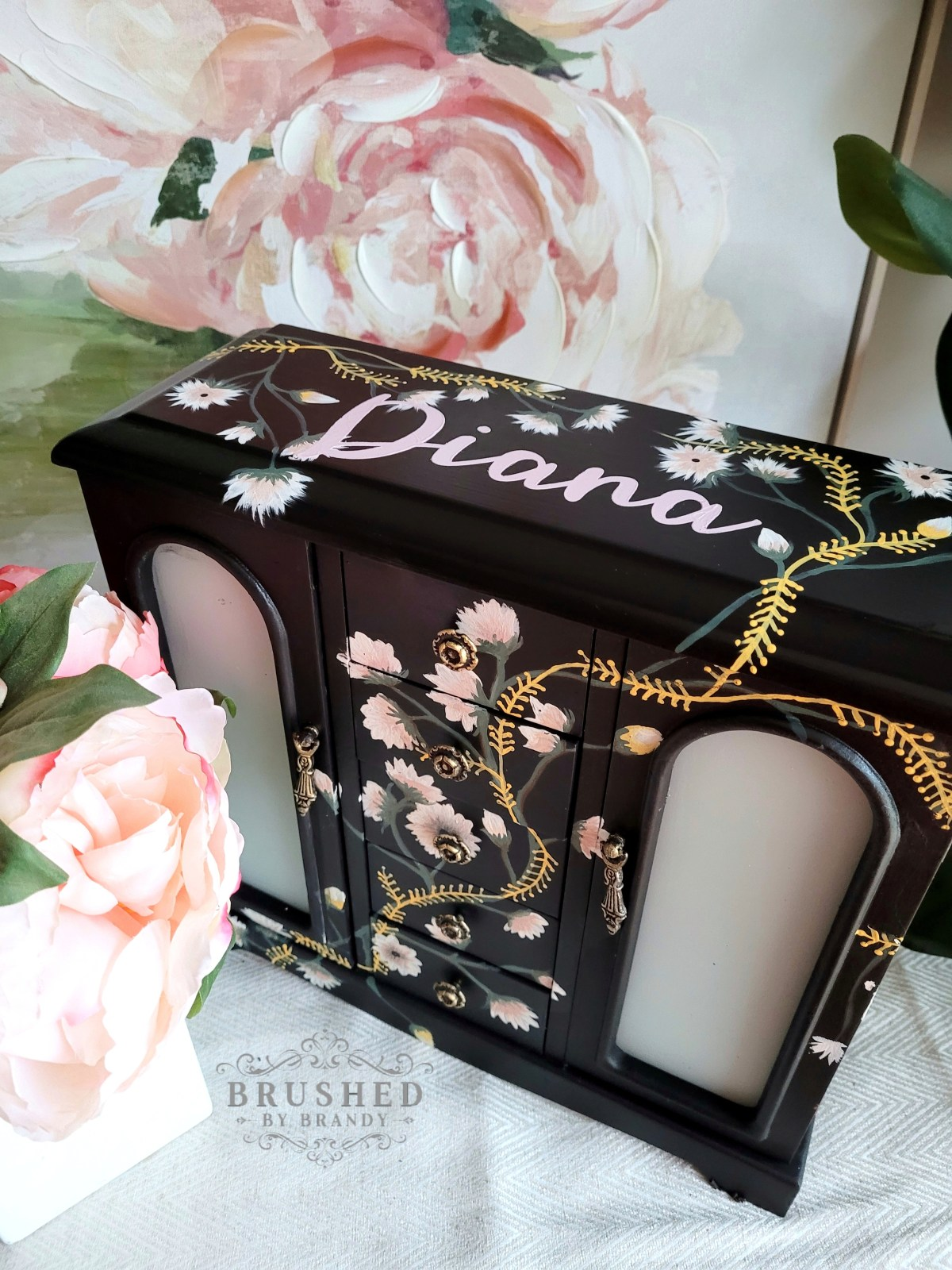 Painted Jewelry Box Brushed by Brandy Dixie Belle Chalk Paint