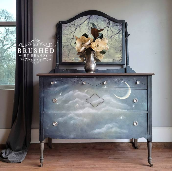 Moon and Stars Dreamy Dresser Final Brushed by Brandy
