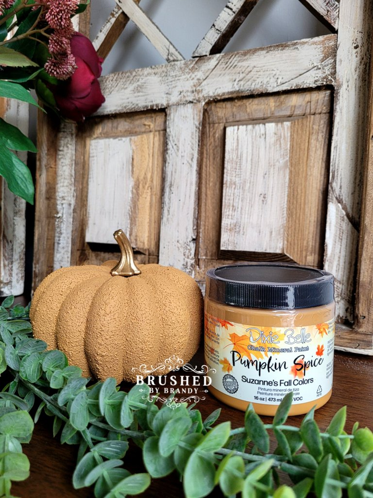 Dixie Belle Pumpkin Spice Paint Color New Fall Release Brushed by Brandy