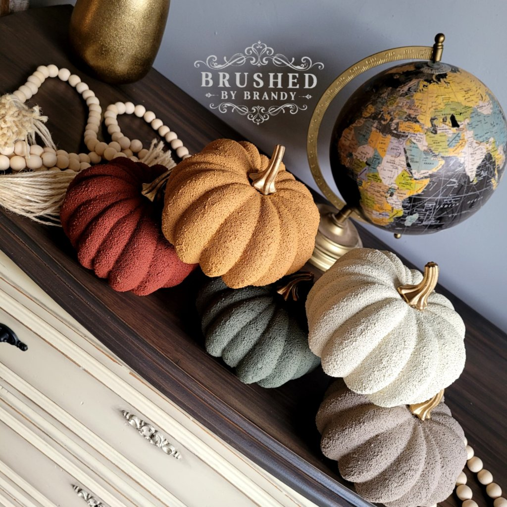 Pumpkins Painted in Fall Paint Colors Dixie Belle New Fall Release Brushed by Brandy