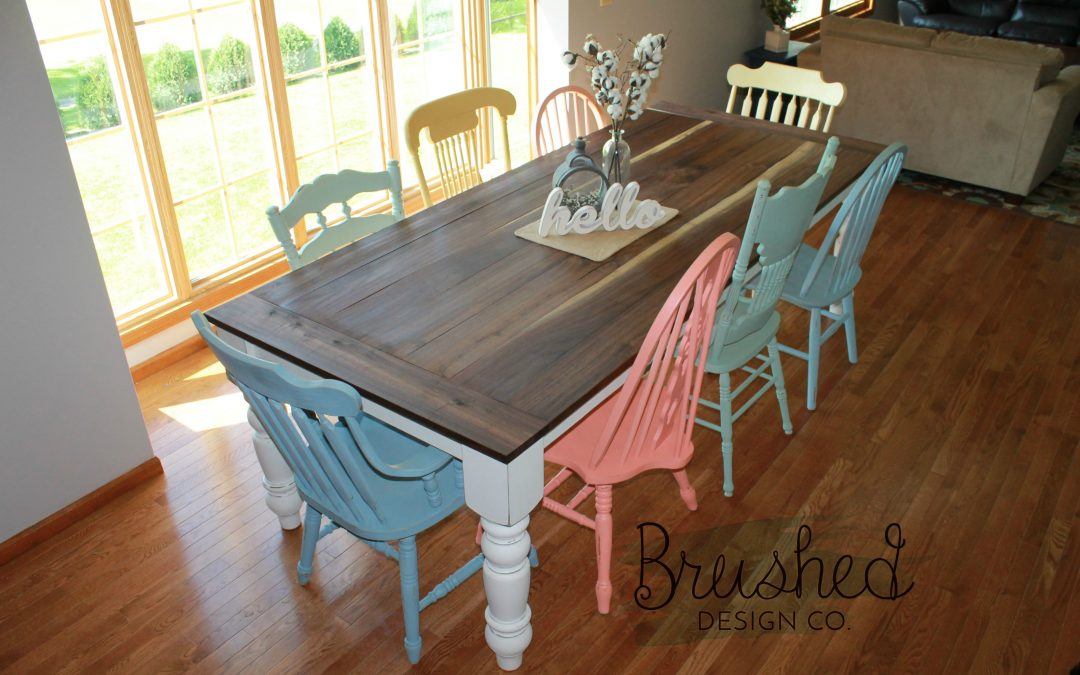 DIY Farmhouse Table And Chairs