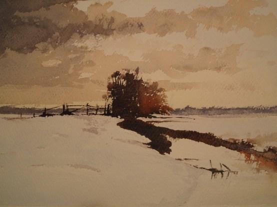 Homage to Edward Seago's 'Norfolk Marsh in Winter'