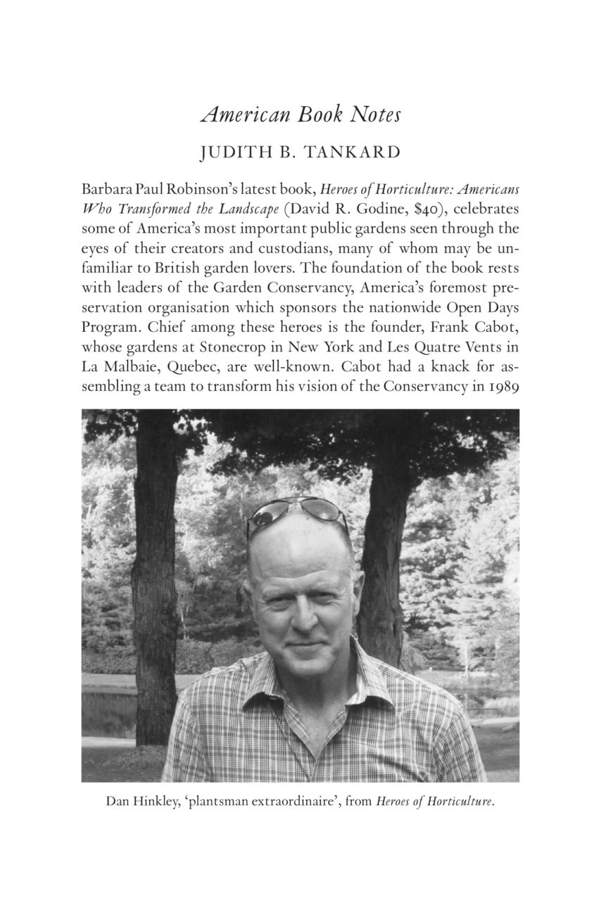 Book Review in Hortus - Autumn Issue No  127 2018 | Brush Hill Gardens