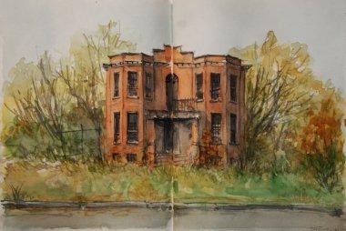 Brush Park Skizzen, Zeichnungen und Aquarelle – 2015, Carsten Wieland