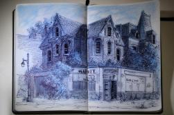 Brush Park Skizzen, Zeichnungen und Aquarelle – 2014, Carsten Wieland