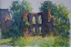 134_2016 Watercolor, Marabu Mixed Media 21,0 x 14,8 cm / 8.3 x 5.8 in - `Marburg - Franziskus Kapelle´