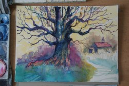 Step-by-step: Painting a colorful tree 05