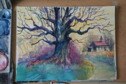 Step-by-step: Painting a colorful tree 07