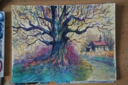 Step-by-step: Painting a colorful tree 08