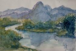 203_2016 Watercolor-Sketches /Daler-Rowney Graduate Sketchbook, 21,0 x 14,9 cm / 8.3 x 5.8 in // 2-minute brush sketch.