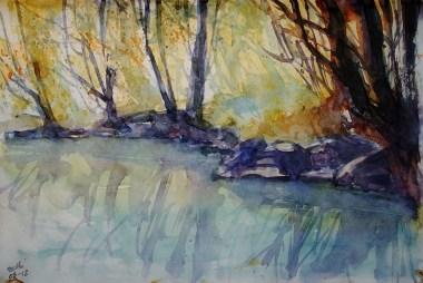 223_2016 Watercolor-Sketches /Daler-Rowney Graduate Sketchbook, 21,0 x 14,9 cm / 8.3 x 5.8 in / Lukas Aquarell 1862