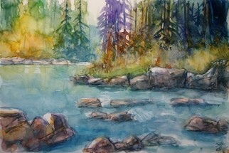 224_2016 Watercolor-Sketches /Daler-Rowney Graduate Sketchbook, 21,0 x 14,9 cm / 8.3 x 5.8 in / Lukas Aquarell 1862