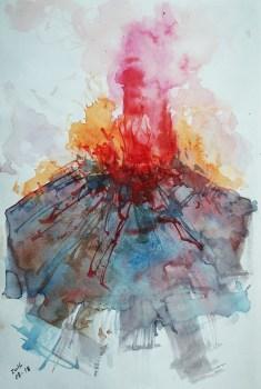 CW2016_abstract_watercolor005 / Daler-Rowney Graduate Sketchbook, 21,0 x 29,7 cm / 8.3 x 11.7 in / Lukas Aquarell 1862